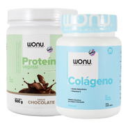Wonu Pack Force Proteína Chocolate 500g + Colágeno Natural