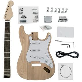 Kit De Guitarra Desmontada Stratocaster Sss Em Ash Sku005a