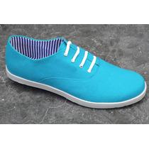 Zapatos De Lona American Track Classic Aqua