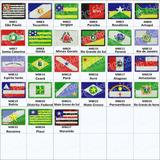 Mini Bandeira Bordada Termocolante 3x4,5 Cm Todos Estados