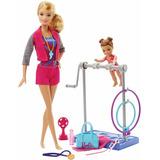 Barbie Quiero Ser Entrenadora Gimnasta. Mattel Original