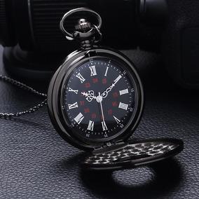 Reloj Relojes De Bolsillo De Pila Retro Steampunk Negro