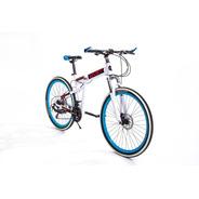 Bicicleta Dobrável Sport White Aro 26  21marchas Freio Disco