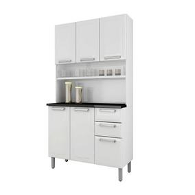 Cozinha Compacta Itatiaia Regina 6 Ptas 2 Gav Em Aço Branca