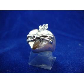 Anel Masculino Prata 925 Sagrado Coração