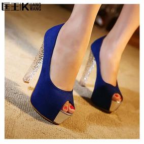 Sapato Salto Peep Toe Importada Ref90