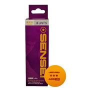 Pelotas Ping Pong Sensei Pro 3 Estrellas - Pack 3 Unidades