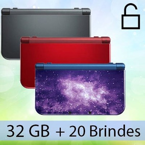 New 3ds Galaxy + 32gb + 20 Brindes De 3ds A Escolha