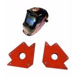 Combo Mascara Fotosensible+ 2 Escuadras Magneticas De 34 Kg