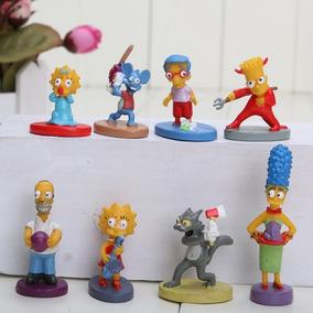 Os Simpsons Miniaturas Kit Com 8 Bonecos Pronta Entrega