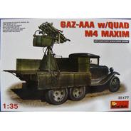 Miniart 1/35 35177 Gaz - Aaa W/ Quad M4 Maxim Anti Arcraft