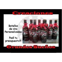 Souvenirs Botella Personalizada De Vino 375cc Desde 38 Pesos