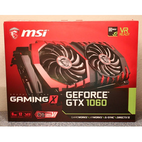 Placa De Video Msi Geforce Gtx 1060 6gb Gaming X Pcie