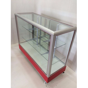 Vitrina Exhibidora De Aluminio Med. 1.20 Mts (nueva)