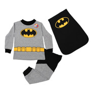 Pijama Batman Bebé Niño 3 Pzs Sudadera Pants Capa Disfraz 20