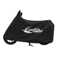 Funda De Motocicleta Carabela Oficial Logo Vintage Negra