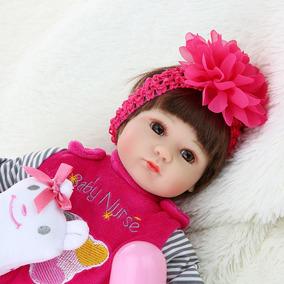Auténtica Bebe Reborn 43 Cm Silicon Tela Diadema Rosada 943145748c9