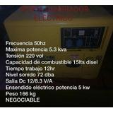 Planta Electrica 5.3 Kva 15 Lts Diesel