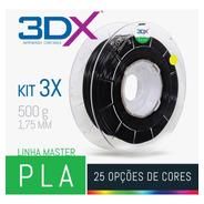 Kit Filamento Pla 1,75 Mm | 3 X 500g