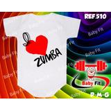 Macacão Academia Body Bebe Zumba Camiseta