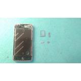 Marco Metalico Bisel Iphone 4 + Botones Y Porta Sim