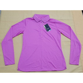 7923ddb189346 Camisa Polo Manga Larga Nike Golf Talla Mediana Color Rosa