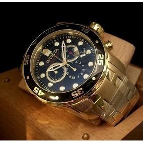 Relógio Fal12522 Invicta 0072 Preto Dourado Imperdível