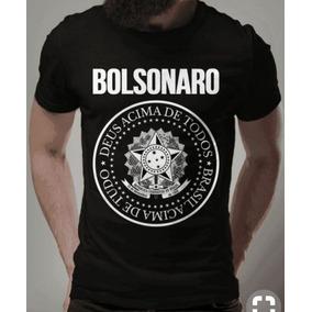 Camisa Blusa Camiseta Com Manga Bolsonaro Presidente 2019