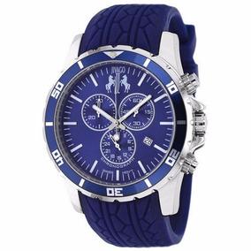 Reloj Jivago Ultimate Silicon Azul Mineral Hombre Msi Jv0125