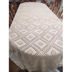 Carpeta (mantel) Tejido A Gancho Con Hilaza De Algodón Color