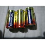 Tres Pilas Alcalinas Tamaño C Panasonic