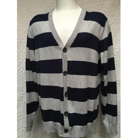 Tommy Hilfiger Sweater Cardigan Azul Gris L (para Xl ) 454ed1b10176