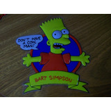 Bart Simpson Cartel Puerta 20th Century Fox Original! X 2