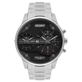 Relógio Orient Masculino Dual Time Mbsst001 P1sx Nota Fiscal