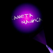 Caneta Mágica Com Tinta Invisível E Luz Negra Importada