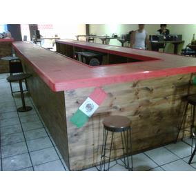Barra De Madera Para Bar O Cantina