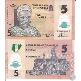 Nigéria Cédula Polímero 5 Naira 2015 P-new ( Fe ) L.s