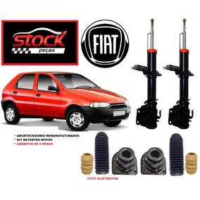 2 Amortecedor + 2 Kit Batente Fiat Palio 1996 Á 00 Dianteiro