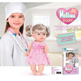 Boneca Mellina Dodoi Com Cabelo Super Toys