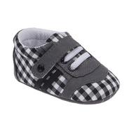 Sapato Para Bebê Cinza Xadrez - Pimpolho