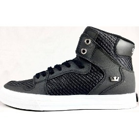 Zapatillas Supra Vaider Black/black-white Todos Los Talles!!