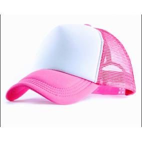 Gorras Trucker Lisas Estampar Sublimar-camufladas-azul-rosa