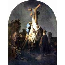 Lienzo Tela Traslado Cristo Rembrandt Arte Sacro 100 X 80 Cm