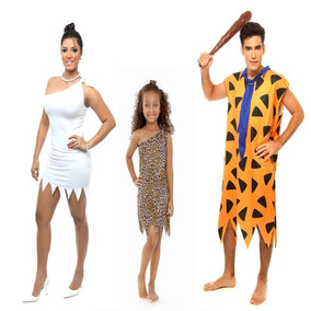 3 Fantasias Fred Flintstones Vilma Pedrita Carnaval