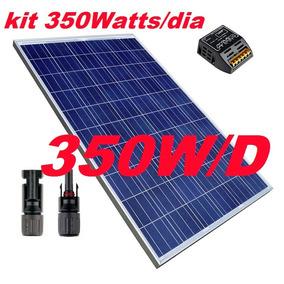 Kit 350watts/d Controlador Panel 70w Celdas Rancho Luz Solar