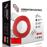 Caja 100 Mts Cable Iusa Rojo Thw Cal 12 Awg 100% Cobre