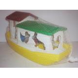 Barco Arca Animales - Camioncito Juguete Escala Tipo Antiguo