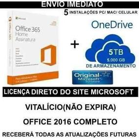 Office 365 + 5tb Onedrive Vitalicio Windows/mac