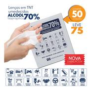 Lenço Umedecido  Alcool Gel 70% Isopropilico C/50 Unid