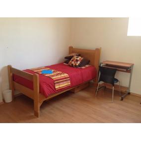 Camas individuales de madera con buro en mercado libre m xico for Recamaras con camas individuales